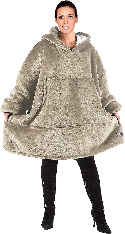 Catalonia Oversized Hoodie Blanket Sweatshirt, Comfortable Sherp