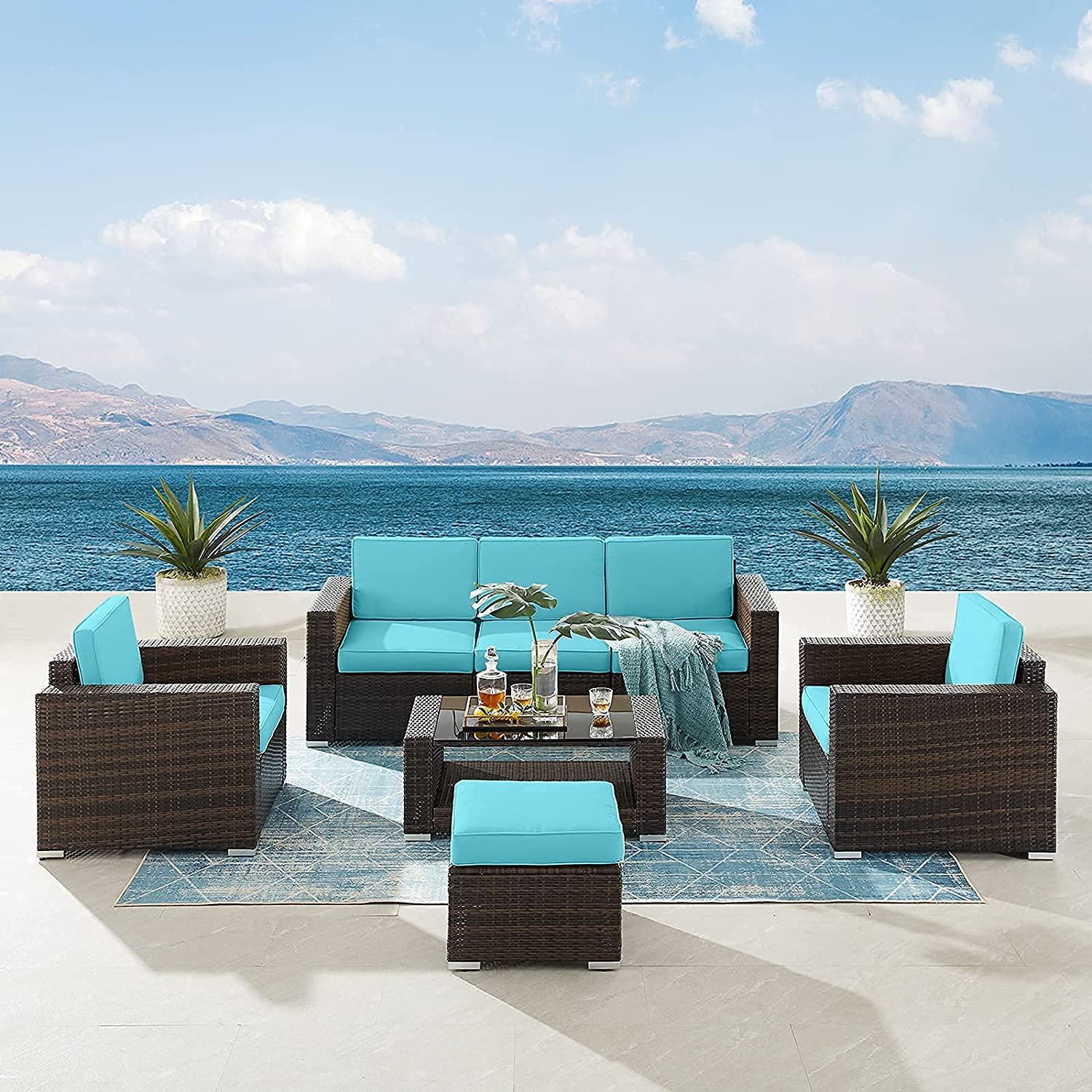 Tribesigns 7 Pieces Patio Furniture Long-awaited Outdoor Sofa Sets Sectional 5 ☆ very popular