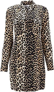 GANNI Luxury Fashion Womens F3469LEOPARD943 Beige Dress | Fall Winter 19