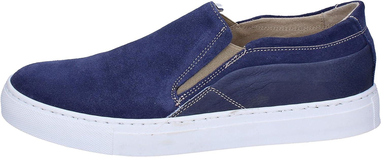 OSSIANI Loafers -skor herr herr herr mocka blå  lägsta priserna