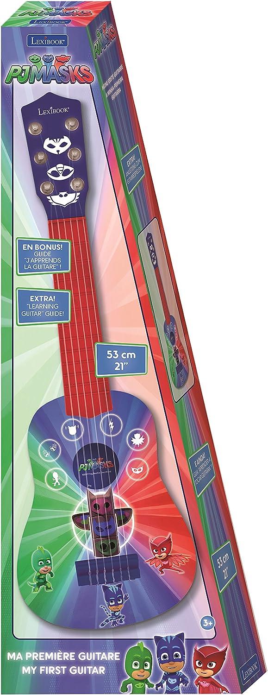 Pj Mask K200PJM Pijamasks-Mi Primera Guitarra, 6 Cuerdas, 53 cm, a Partir de 3 años (Lexibook