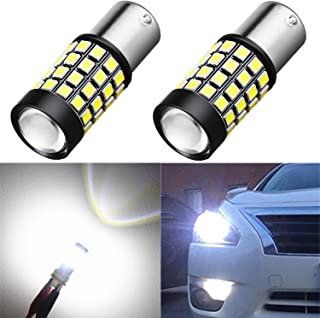 Alla Lighting 1000Lm 51-SMD Extremely Super Bright 6000K White BA15S 1141 1156 7506 P21W LED Bulb High Power 2835 Chipsets LED Back-up Reverse Lights Bulbs Lamps Replacement