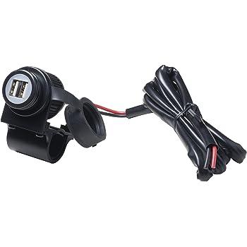 Cliff-Top/® Caricatore di potere 3.3 Amp universale del motociclo USB e Smart Phone ecc navigatore satellitare per il GPS