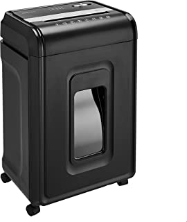 Amazon Basics 24-Sheet Cross-Cut Paper, CD and Credit Card Home Office Shredder with Pullout Basket