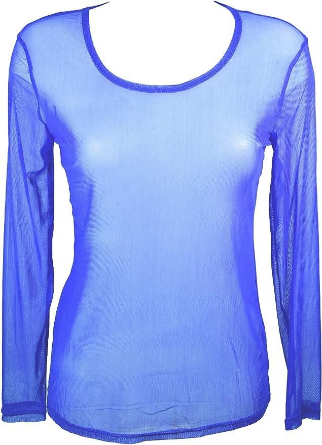 Miss Rouge: Camiseta de tul transparente