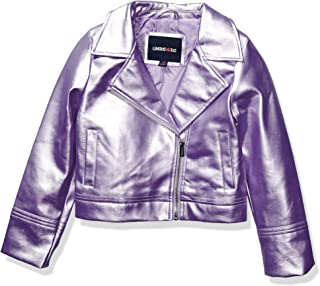 Girls' Metallic Pu Moto Jacket