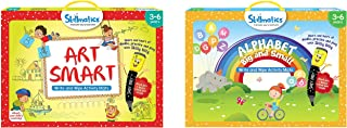 Skillmatics Educational Game: Art Smart (3-6 Years) | Learning and Activity Games | Sketching, Drawi & Alphabet Big and Sm...