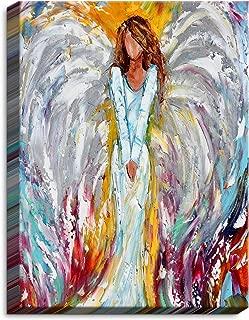 DiaNoche Designs CAN-KarenTarltonAngelWatchingOv1 Canvas Wall Art Framed and Unframed, 14 x 11