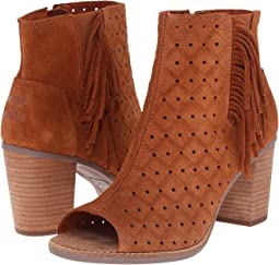 Cinnamon Suede Perforated/Fringe