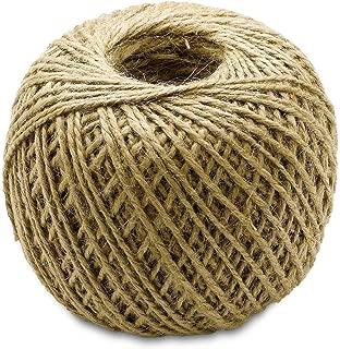 Katzco Brown, 400 Foot Jute Twine - All Natural, Biodegradable, 1 Pack
