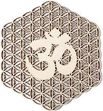 "Simurg 11.5"" Flower of Life Om Wall Art Wooden Crystal Grid Sacred Geometry Wall.."