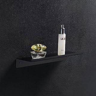 BGL Étagère murale de salle de bain - Noir mat - Pour un usage quotidien - En acier inoxydable 304 - Installation facile p...