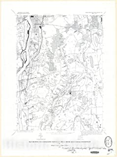Historic Pictoric Map : Map Showing unconsolidated Materials, Broad Brook Quadrangle, Connecticut, 1973 Cartography Wall Art : 18in x 24in