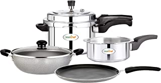 GREENCHEF Stainless Steel Kadhai- Silver