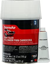 Bondo Body Filler, Stage 3, Original Formula for Fast, Easy Repair and Restoration for your Vehicle, 1 Lb 12oz.