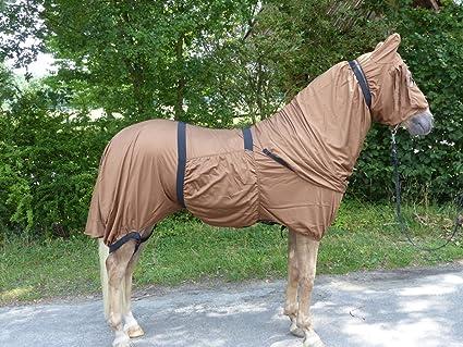 Hafer24 Ekzemerdecke braun für kräftige Pferde Barock Hengsttyp Gr.175 Friese