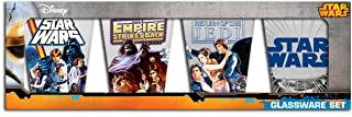 Silver Buffalo SW031SG2 Star Wars Episodes 4, 5 and 6 Mini Glass Set, 4-Pack