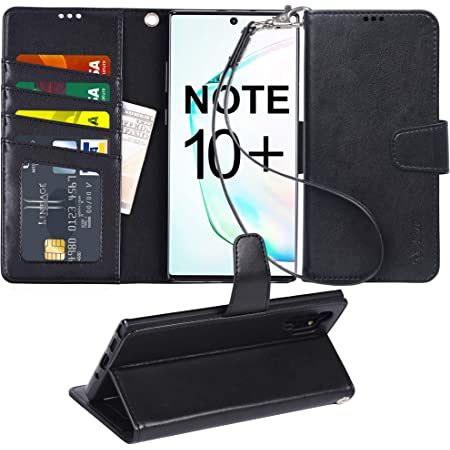 NEXCURIO Wallet Case for Galaxy Note 10+ with Card Holder Side Pocket Kickstand Shockproof Leather Flip Cover Case for Samsung Galaxy Note10+ 5G NEYBO440411 N1 Note 10 Plus