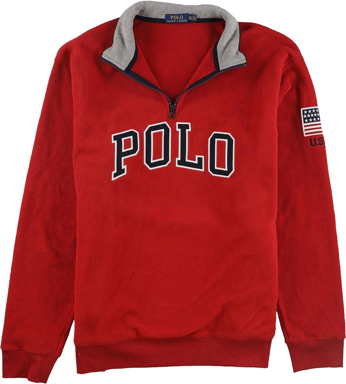 Polo Ralph Lauren Big & Tall Polar Fleece 1/2 Zip Ralph Red 2XB