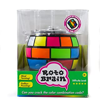 Roto Brain 3D Puzzle Sphere - Brain Teaser Puzzle Game to Fidget, Twist, Turn - 3 Levels of Difficulty, Crack The Code for...