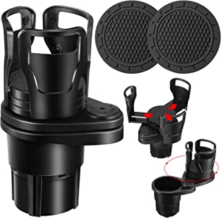 2 in 1 Multifunctional Car Cup Holder and 2 Piece Car Cup Holder Coaster, Vehicle Mounted Water Cup Drink Holder Universal...