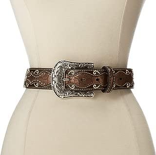 Women's Patent Inlay Cross Concho Belt