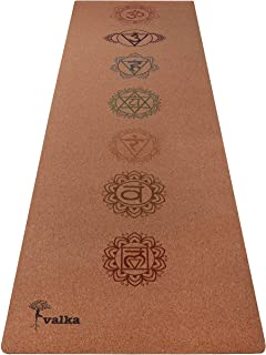 Cork Yoga Mat Non Slip, Eco Friendly & Odor Free - Beautiful Designer Travel Yoga Mat with Carry Strap - Best Bikram & Hot...