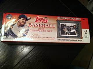 2013 Topps Baseball Card Factory Sealed Complete Set with Exclusive Babe Ruth Patch Card