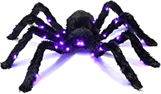 Prextex Light up Black Hairy Spider/Tarantula for Halloween Haunt Décor Best Halloween Decoration