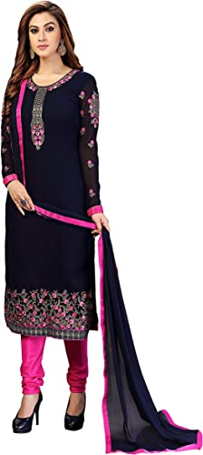 Women s Georgette Embroidery Dress Material