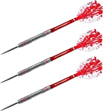 Harrows Rapide 90% Tungsten Matched Weighed + or-0.5G Machined with Cut Rings & Knurls Steel Tip 23G Dart
