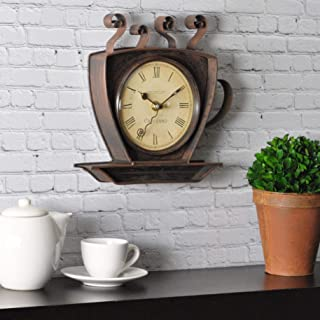 FirsTime & Co. Coffee Cup Wall Clock, Oil Rubbed Bronze