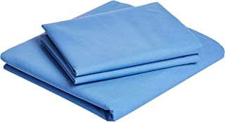 IBed home Solid 3 Pieces Bedding Set, King, Blue, H23.2 x W29.6 x D3.4 cm