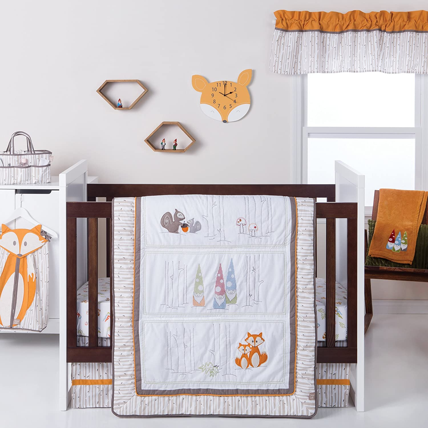 Trend Lab Gnome Boy 4Piece Crib Bedding Set