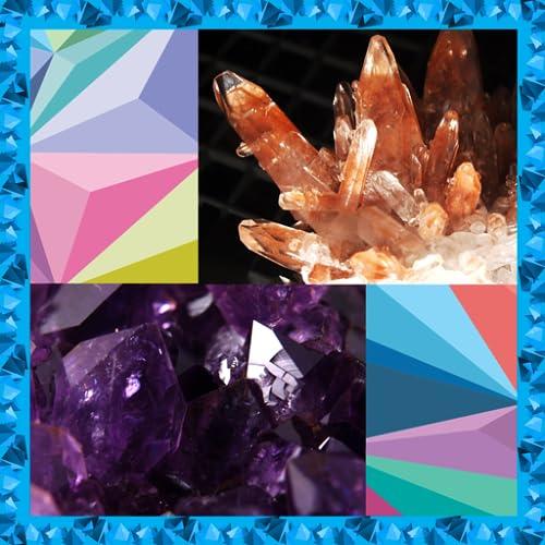 Colagem de fotos de cristais