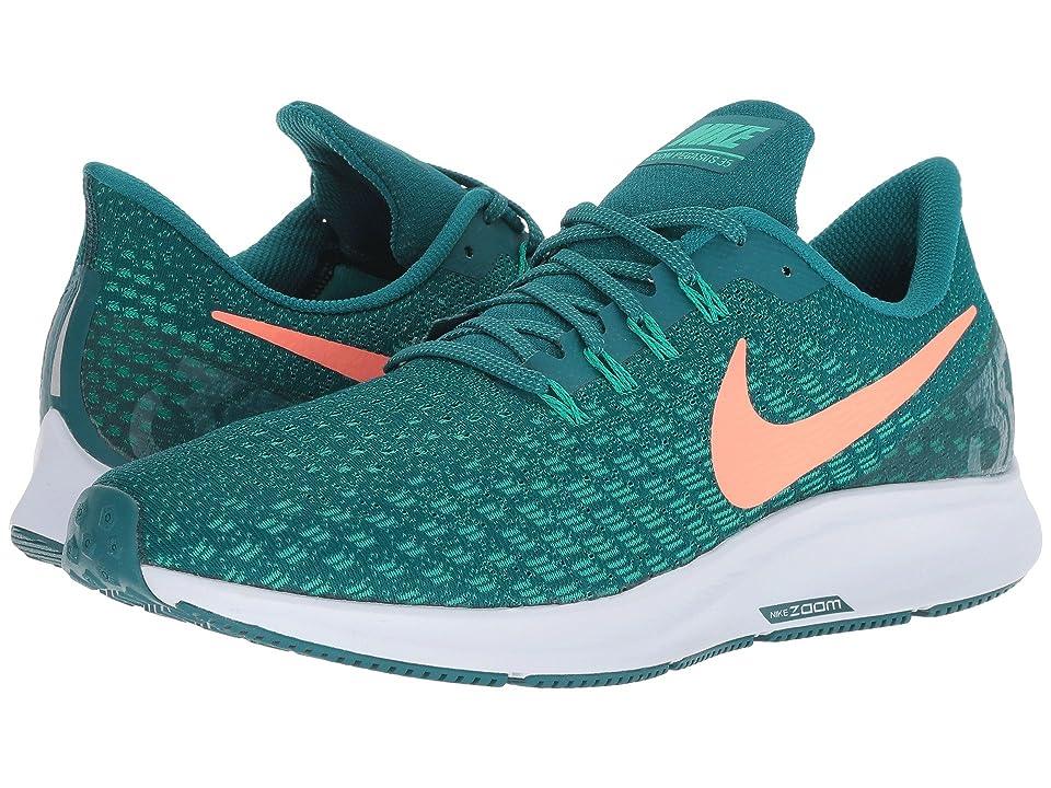Nike Air Zoom Pegasus 35 (Geode Teal/Bright Mango/Clear Emerald) Men