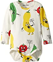 mini rodini - Veggie All Over Print Long Sleeve Bodysuit (Infant)