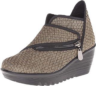 Bernie Mev Women's Zig Zag Ankle Bootie