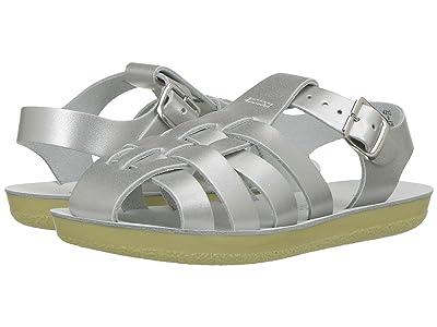 Salt Water Sandal by Hoy Shoes Sun-San Sailors (Toddler/Little Kid) (Silver) Girls Shoes