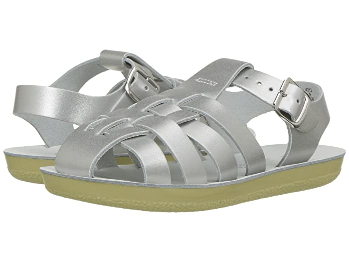 Salt Water Sandal by Hoy Shoes  Sun-San - Sailors (Toddler/Little Kid) (Silver) Girls Shoes