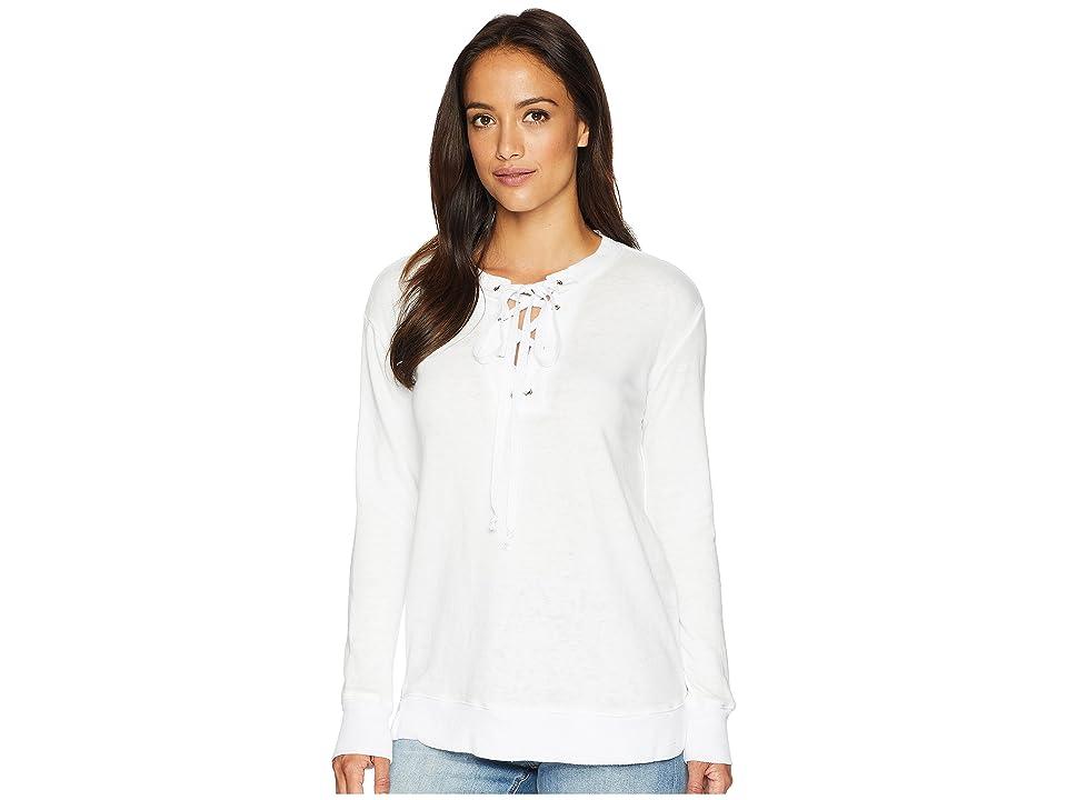 Allen Allen Lace-Up Sweatshirt (White) Women
