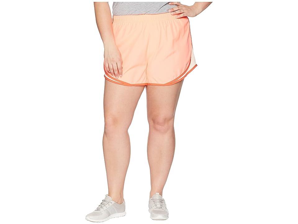 Nike Dry Tempo 3 Running Short (Size 1X-3X) (Crimson Pulse/Crimson Tint/Wolf Grey) Women