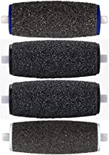 4 Mixed Pedi Refill Roller Heads Compatible with Amope Pedicure Foot File, 4-Pack, Pedi Perfect Refills (1 Extra Coarse, 2 Regular Coarse, 1 Soft Touch)