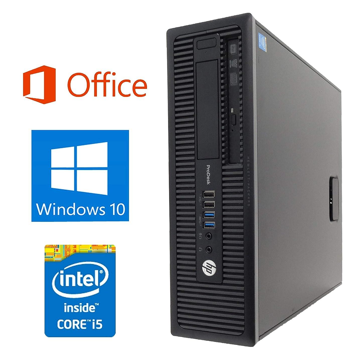 記憶味方ジュラシックパーク【Microsoft Office 2016搭載】【Win 10搭載】HP 600G1/第四世代Core i5-4570 3.2GHz/新品メモリ:8GB/新品SSD:240GB/DVDスーパーマルチ/USB 3.0/無線機能搭載/ほぼ新品/中古デスクトップパソコン (SSD:240GB)