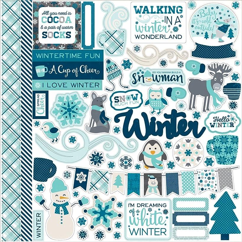Echo Park Paper HWST-95014 Hello Winter Cardstock Stickers 12 x 12 in. - Element