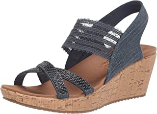 Skechers Cali Women's BEVERLEE - FANCY SIPS womens Wedge Sandal
