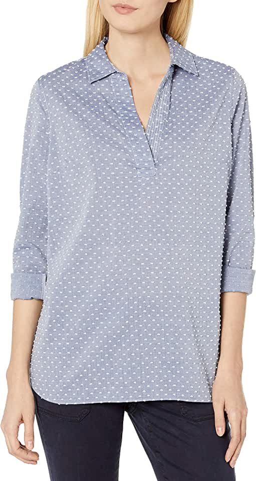 NYDJ Women's Popover Tunic Top