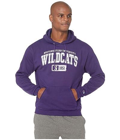 Champion College Northwestern Wildcats Powerblend(r) Fleece Hoodie (Champion Purple) Men