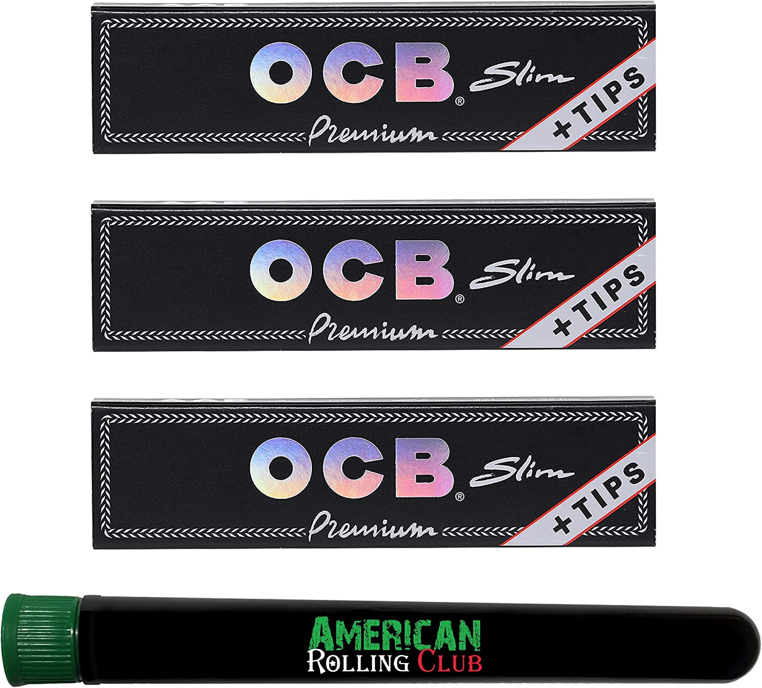 OCB Premium Cigarette Rolling Papers ~ Tips + famous King Gorgeous Slim Size 3