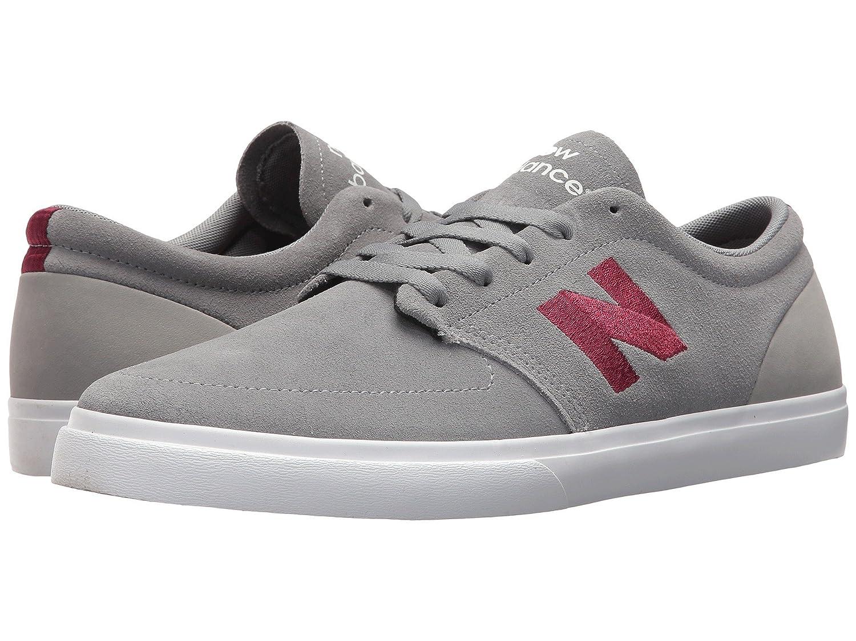 (ニューバランス) New Balance メンズスニーカー?カジュアルシューズ?靴?スケート NM345 Grey/Burgundy 7.5 (25.5cm) D - Medium